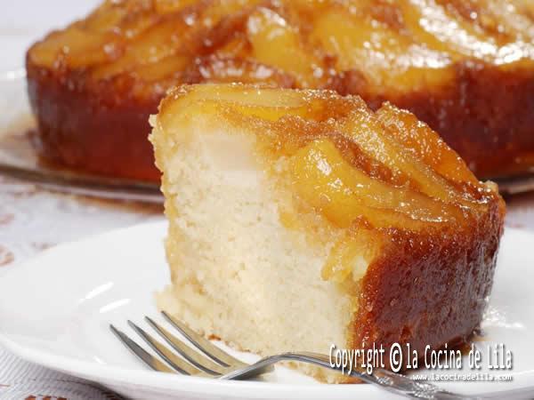 pastel de manzana al ron