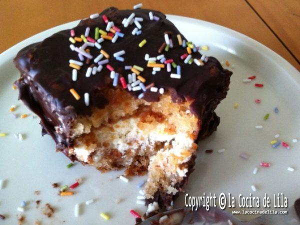 Pastelitos de nata y chocolate