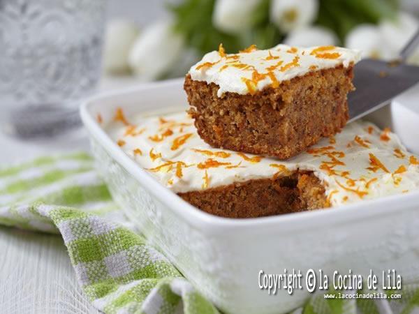 Pastel de zanahorias o carrot cake