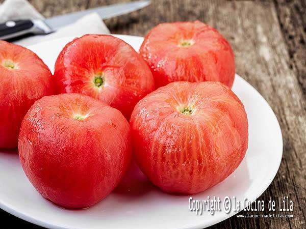 Cómo pelar tomates rapido y facil