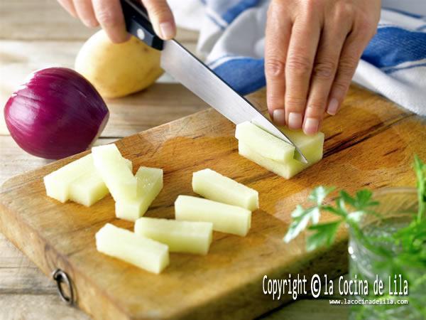 Tipos de corte para las patatas fritas