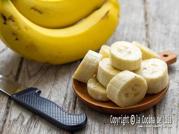Cómo congelar plátanos.
