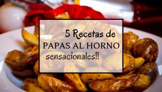 4 recetas de papas al horno