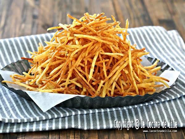 Como hacer patatas paja