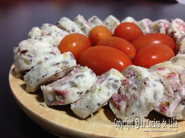 Canapés de salami