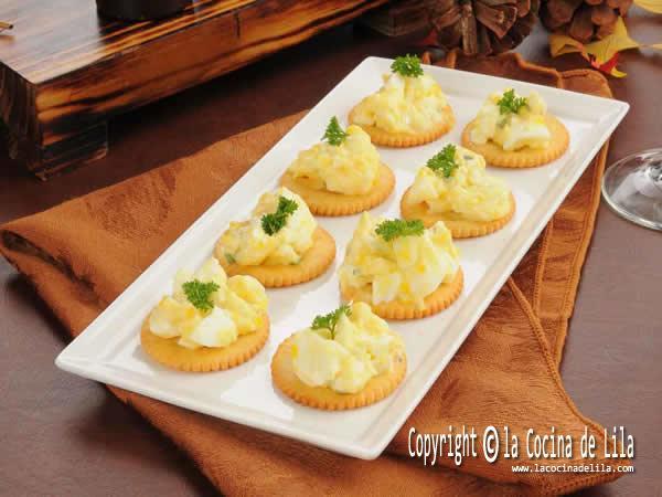 Bases para canapés galletas saladas
