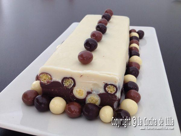 Turrón de chocolate con galletas