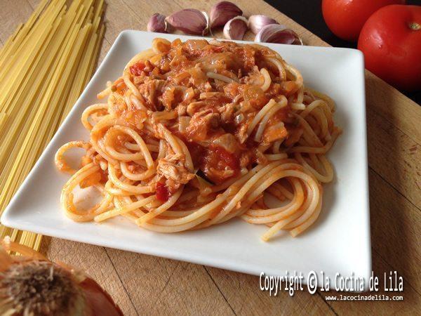 Espaguetis con atun