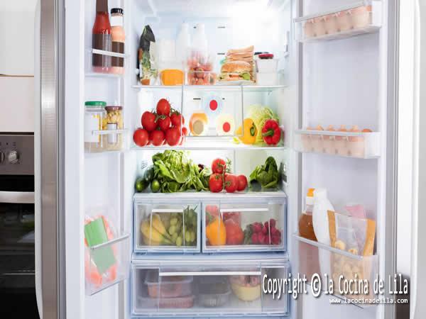 Cómo almacenar alimentos en el frigorífico