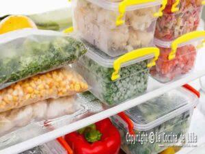 Congelar verduras correctamente