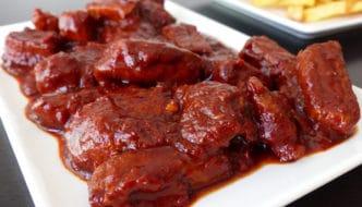 Lomo de cerdo en salsa picante