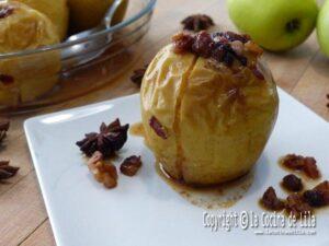 Manzanas al horno rellenas