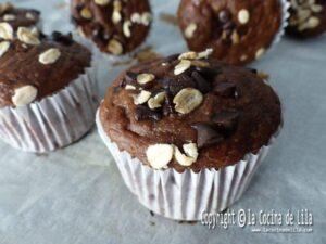 Muffins de plátano y chocolate sin azúcar