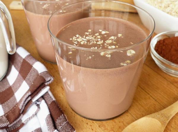Batido de avena y cacao sin azúcar