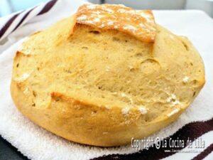 Hogaza de pan sin reposo