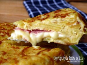 Tortilla de patatas rellena